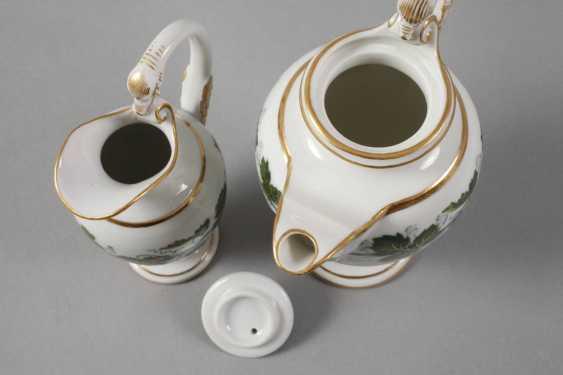 Meissen mocha pot and cream jug vine leaves decor - photo 2