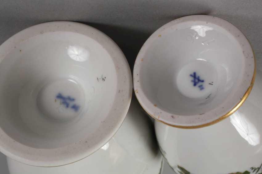 Meissen mocha pot and cream jug vine leaves decor - photo 3