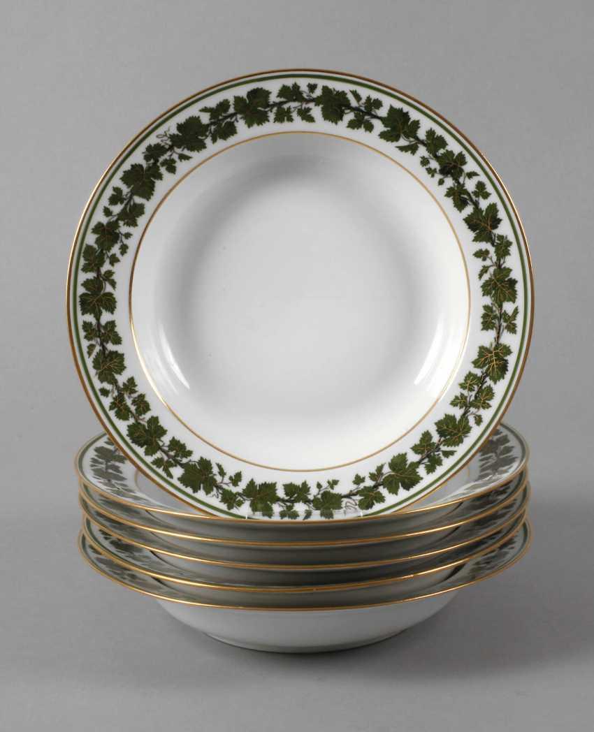 Meissen six soup plates with vine leaf decoration - photo 1