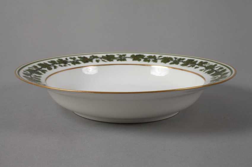 Meissen six soup plates with vine leaf decoration - photo 2