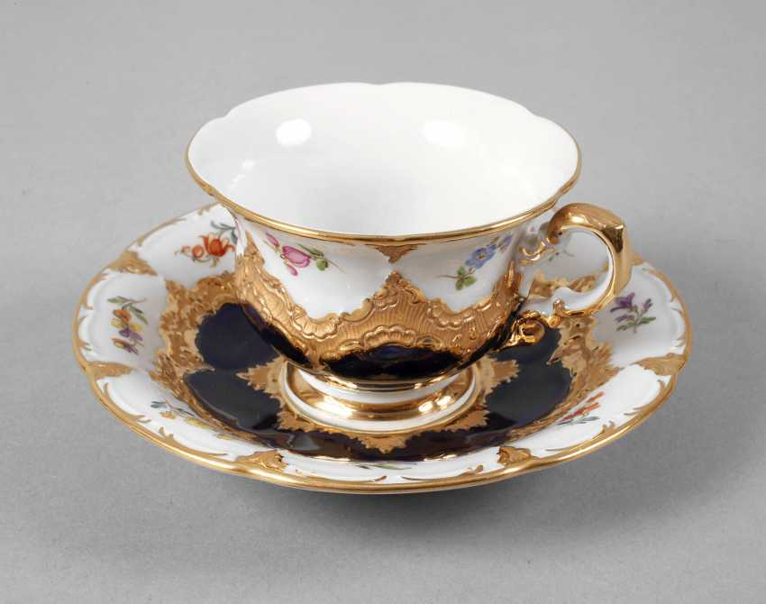 """Meissen mocha Cup with saucer """"B-Form"""" - photo 1"""
