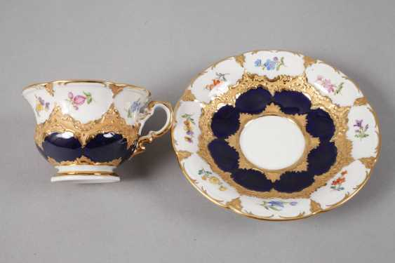 """Meissen mocha Cup with saucer """"B-Form"""" - photo 2"""