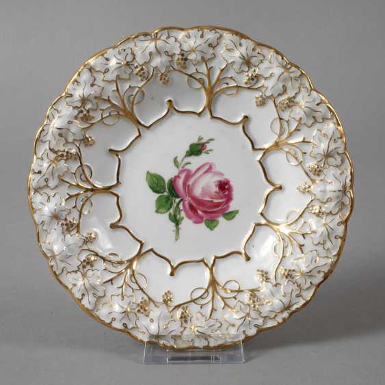 "Meissen small ceremonial plate ""Red Rose"" - photo 1"