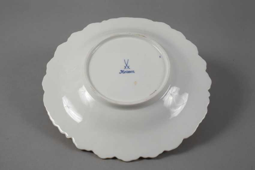 Meissen ceremonial plate with flowers painting and cobalt Fund - photo 2