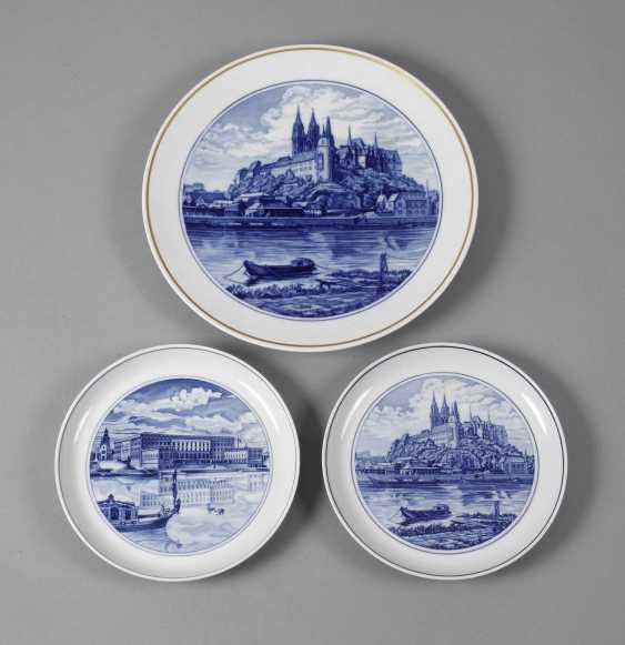 Meissen three view plates - photo 1