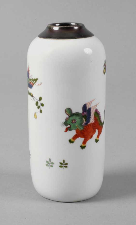 Meissen Vase with silver mount - photo 1