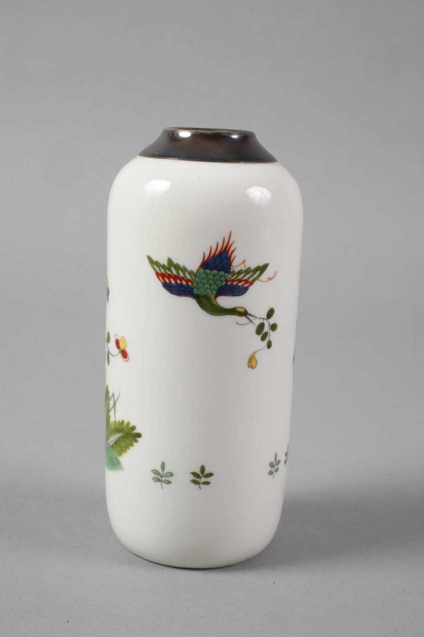 Meissen Vase with silver mount - photo 2