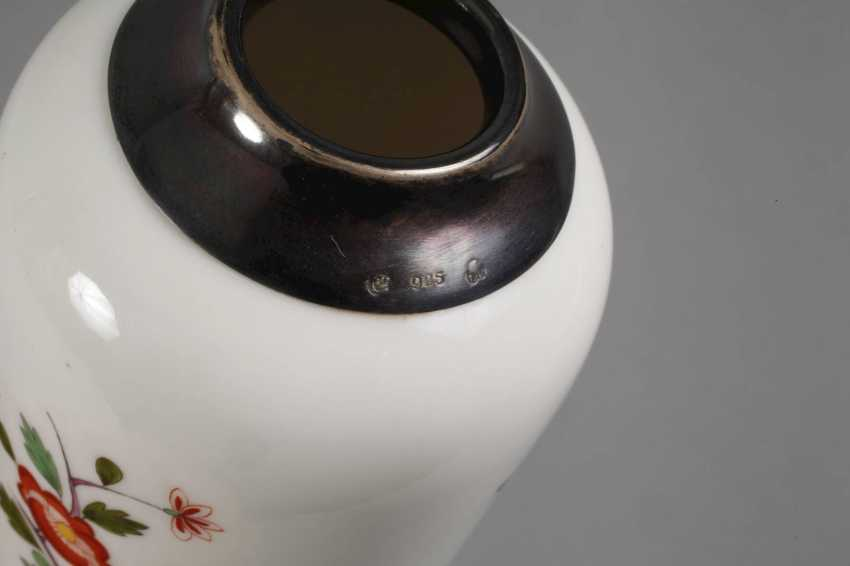 Meissen Vase with silver mount - photo 6