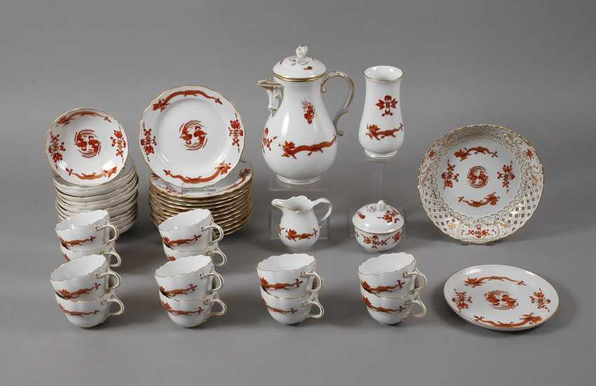 "Meissen coffee service for ""Rich dragon, red"" - photo 1"