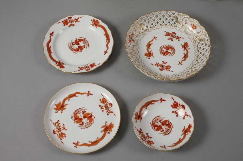 "Meissen coffee service for ""Rich dragon, red"" - photo 3"