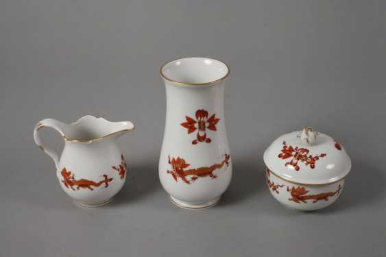 "Meissen coffee service for ""Rich dragon, red"" - photo 4"