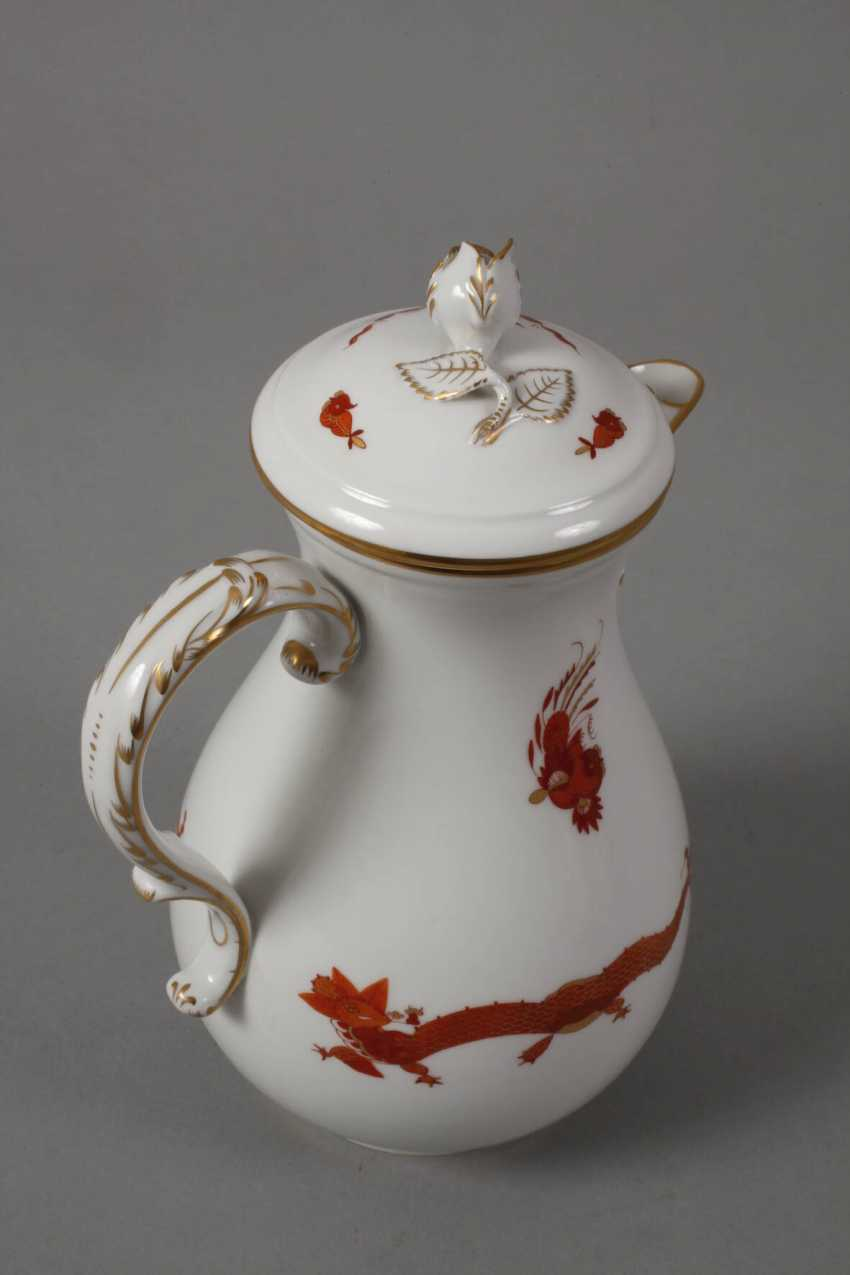 "Meissen coffee service for ""Rich dragon, red"" - photo 6"