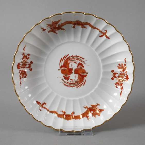 """Meissen wall plate """"Rich dragon, red"""" - photo 1"""