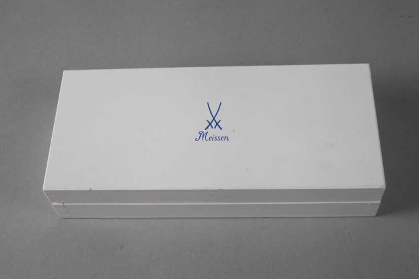 Пара Meissen пластинкы в коробке - фото 4