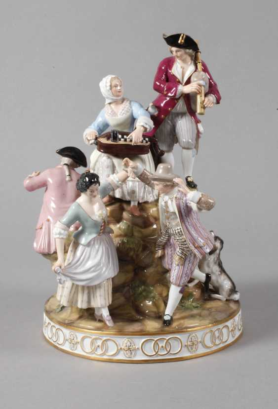 "Meissen ""gardeners group on the tree"" - photo 1"