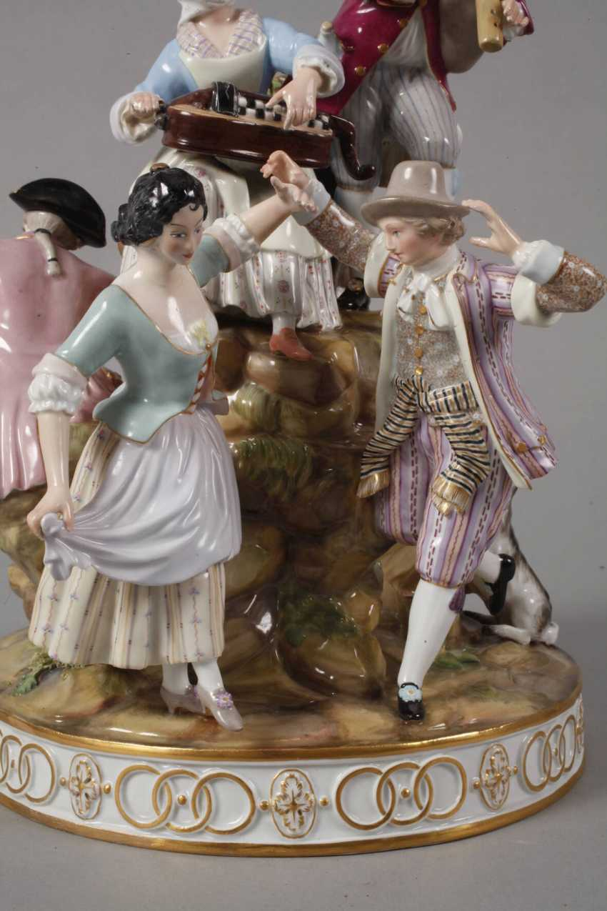 "Meissen ""gardeners group on the tree"" - photo 2"