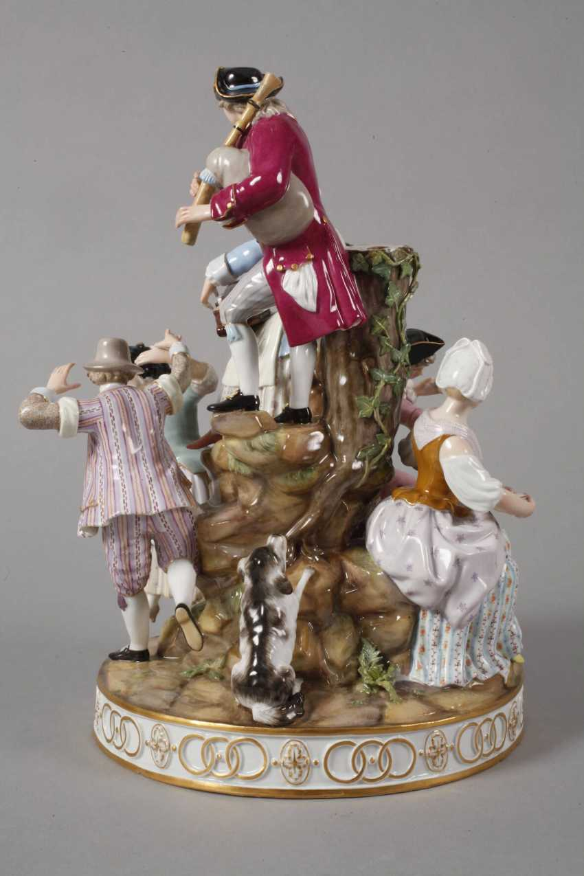 "Meissen ""gardeners group on the tree"" - photo 4"