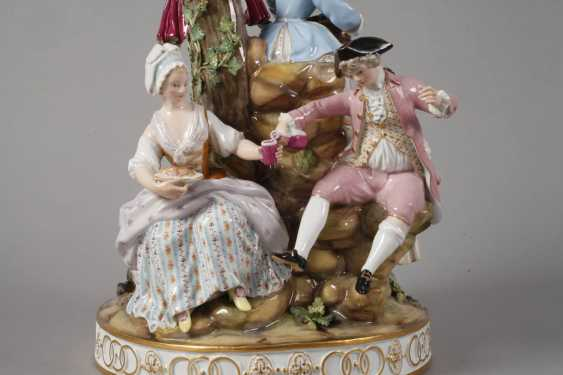 "Meissen ""gardeners group on the tree"" - photo 5"