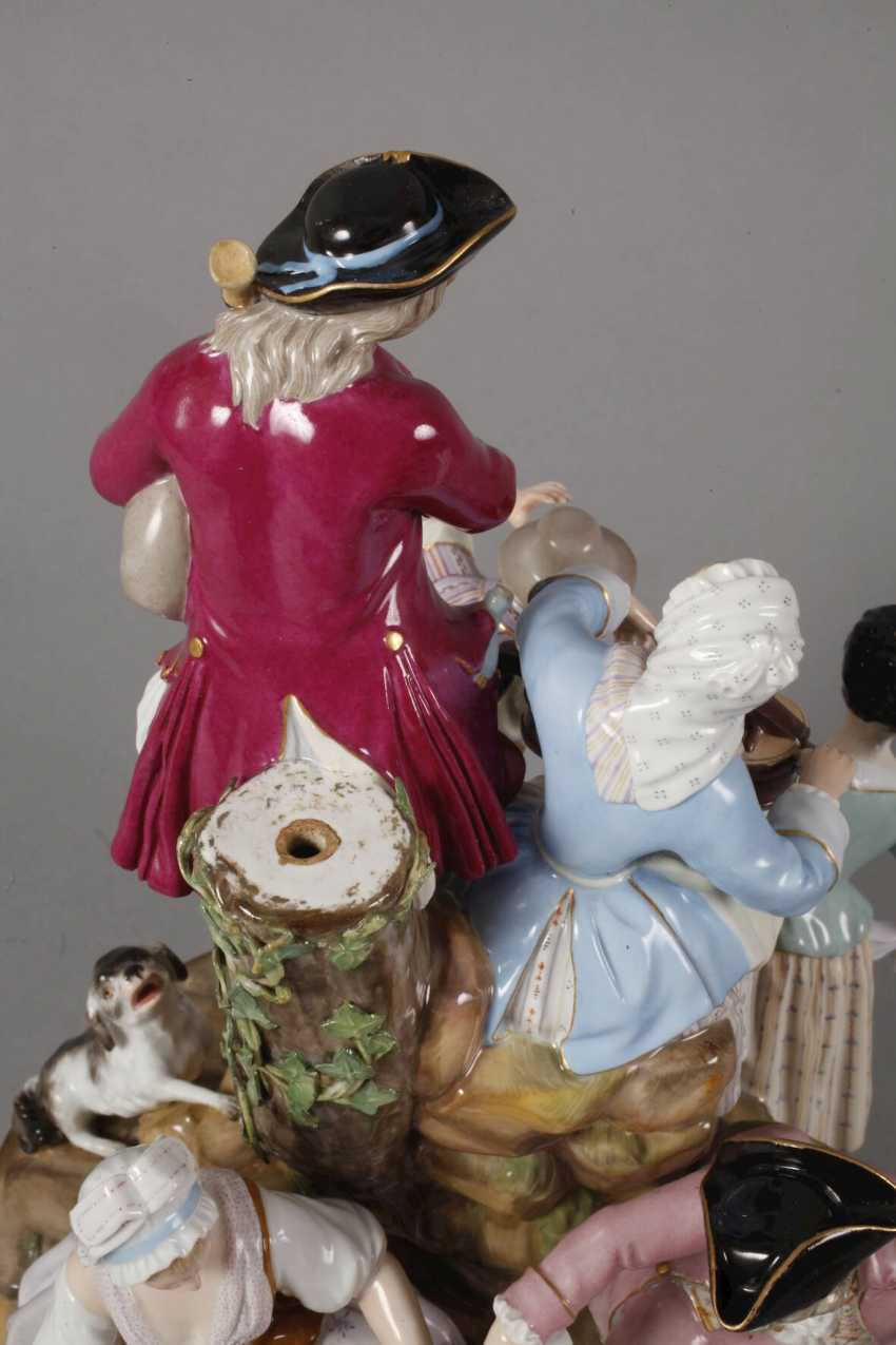 "Meissen ""gardeners group on the tree"" - photo 6"