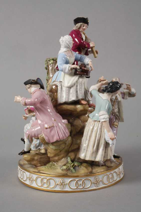 "Meissen ""gardeners group on the tree"" - photo 7"
