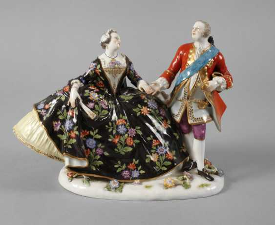 """Meissen """"love group / The Polish kiss on the Hand"""" - photo 1"""