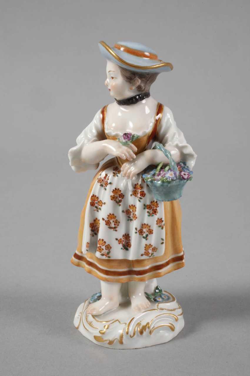 """Meissen """"gardener's child with flower basket"""" - photo 2"""