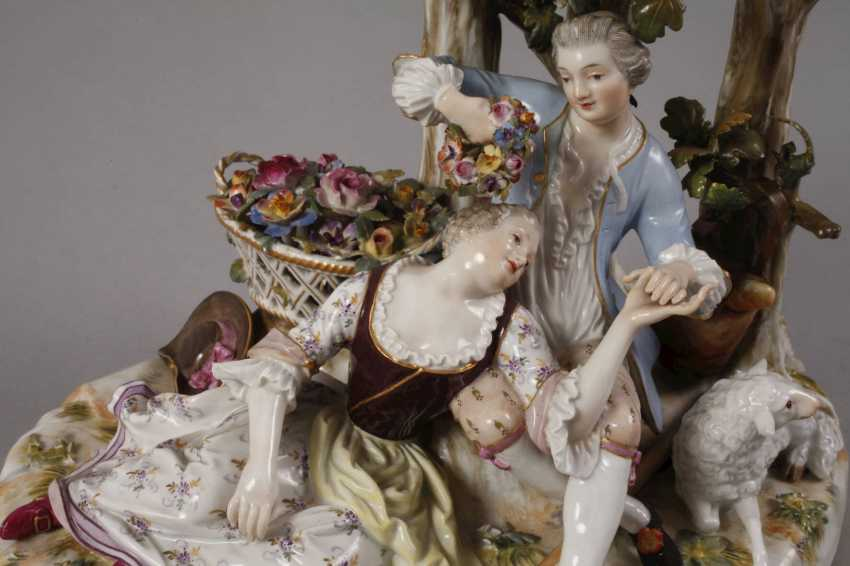 "Meissen ""shepherd group tree"" - photo 3"