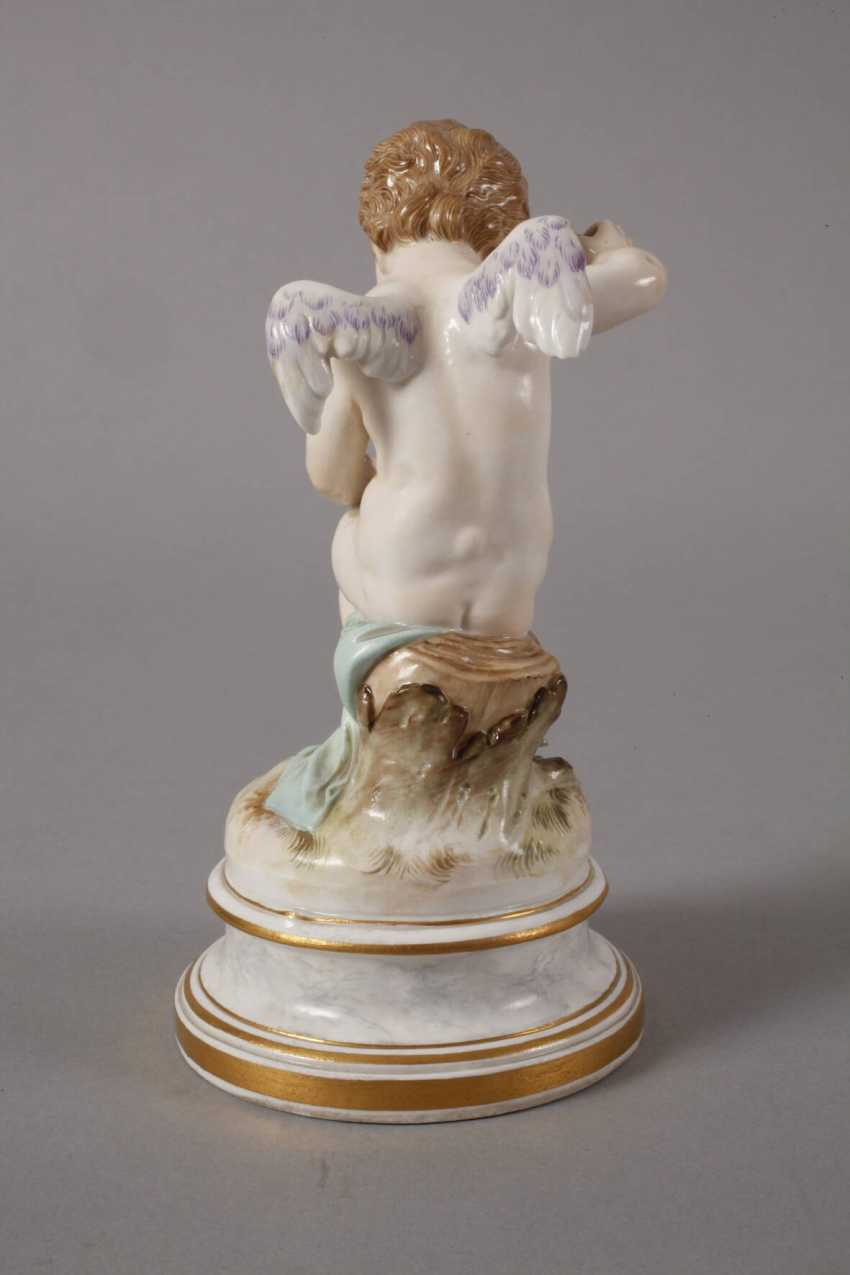 "Meissen ""Cupid, a wounded heart flickend"" - photo 3"