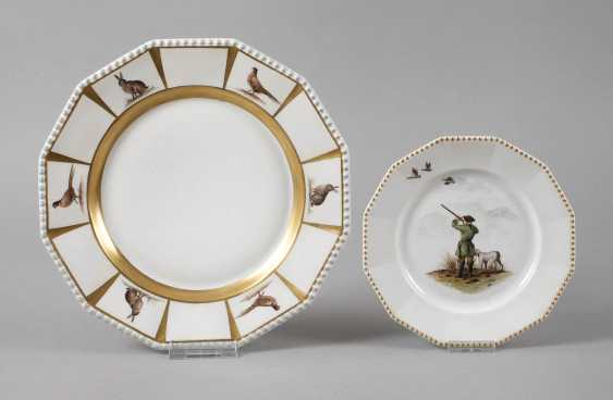 Nymphenburg two plates with hunting motif - photo 1