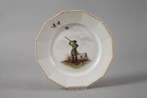 Nymphenburg two plates with hunting motif - photo 4