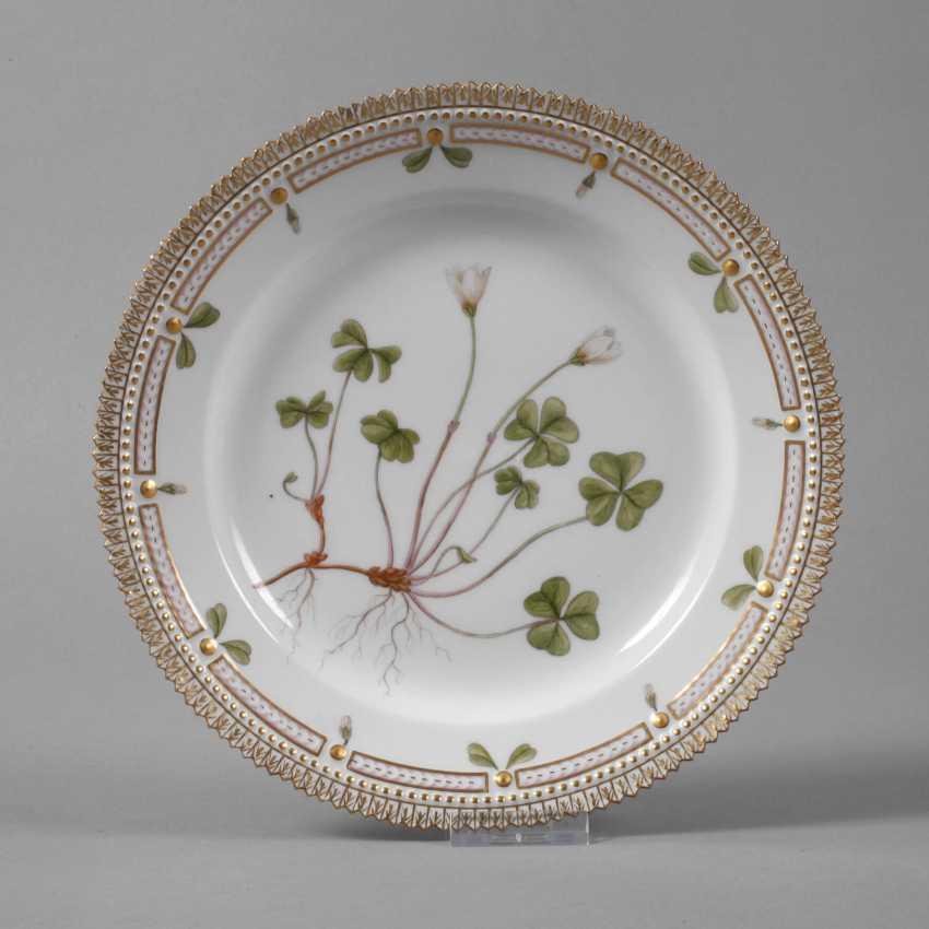 "Royal Copenhagen Breakfast Plates Of ""Flora Danica"" - photo 1"