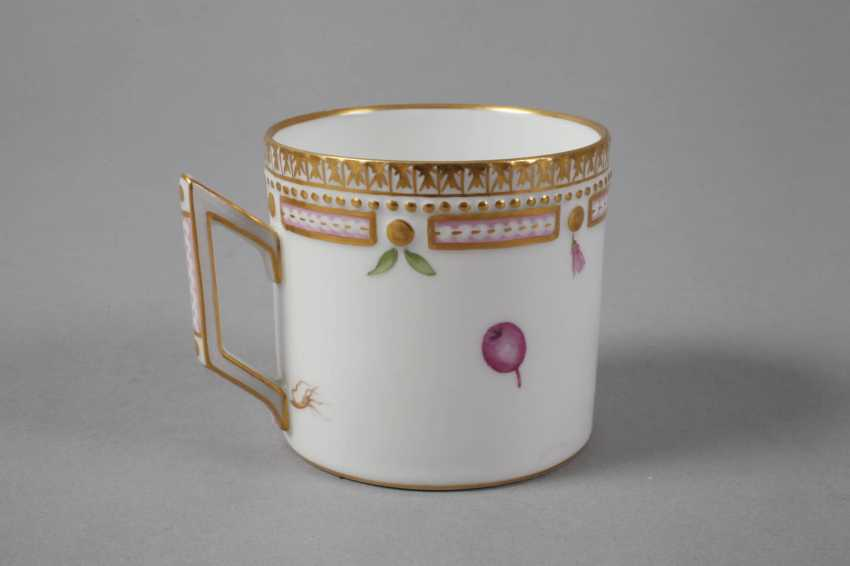 "Royal Copenhagen Kaffeetasse mit Untertasse ""Flora Danica"" - photo 4"