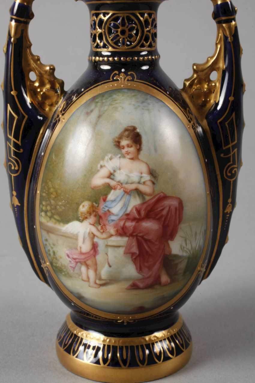 Rudolstadt-Volkstedt potpourri vase in the Vienna style - photo 2