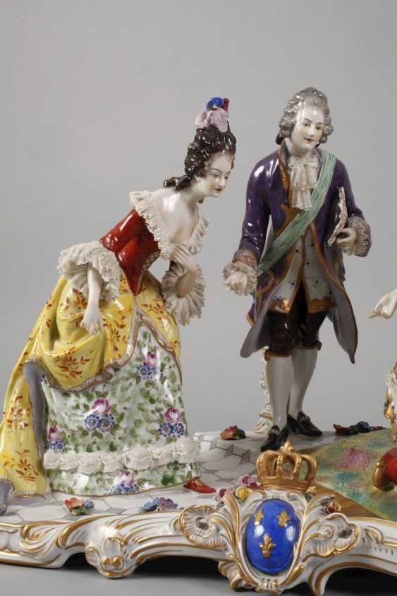 """Volkstedt monumental figure group """"Royal audience"""" - photo 5"""