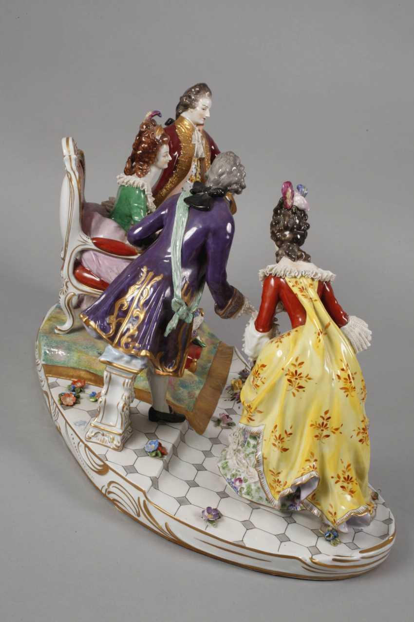 """Volkstedt monumental figure group """"Royal audience"""" - photo 7"""