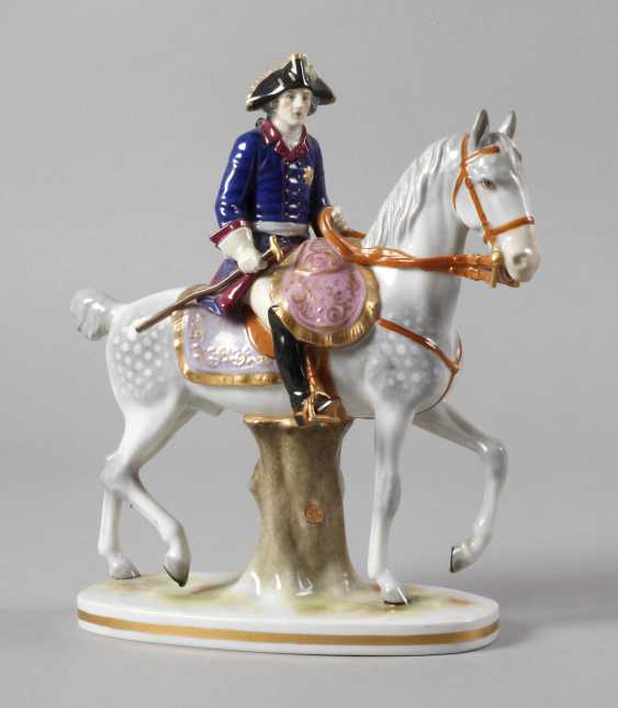 """Volkstedt equestrian figure """"Frederick the Great"""" - photo 1"""