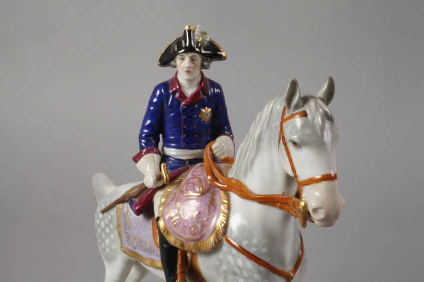 """Volkstedt equestrian figure """"Frederick the Great"""" - photo 2"""