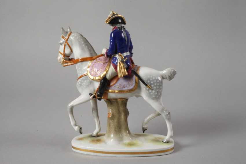 """Volkstedt equestrian figure """"Frederick the Great"""" - photo 3"""