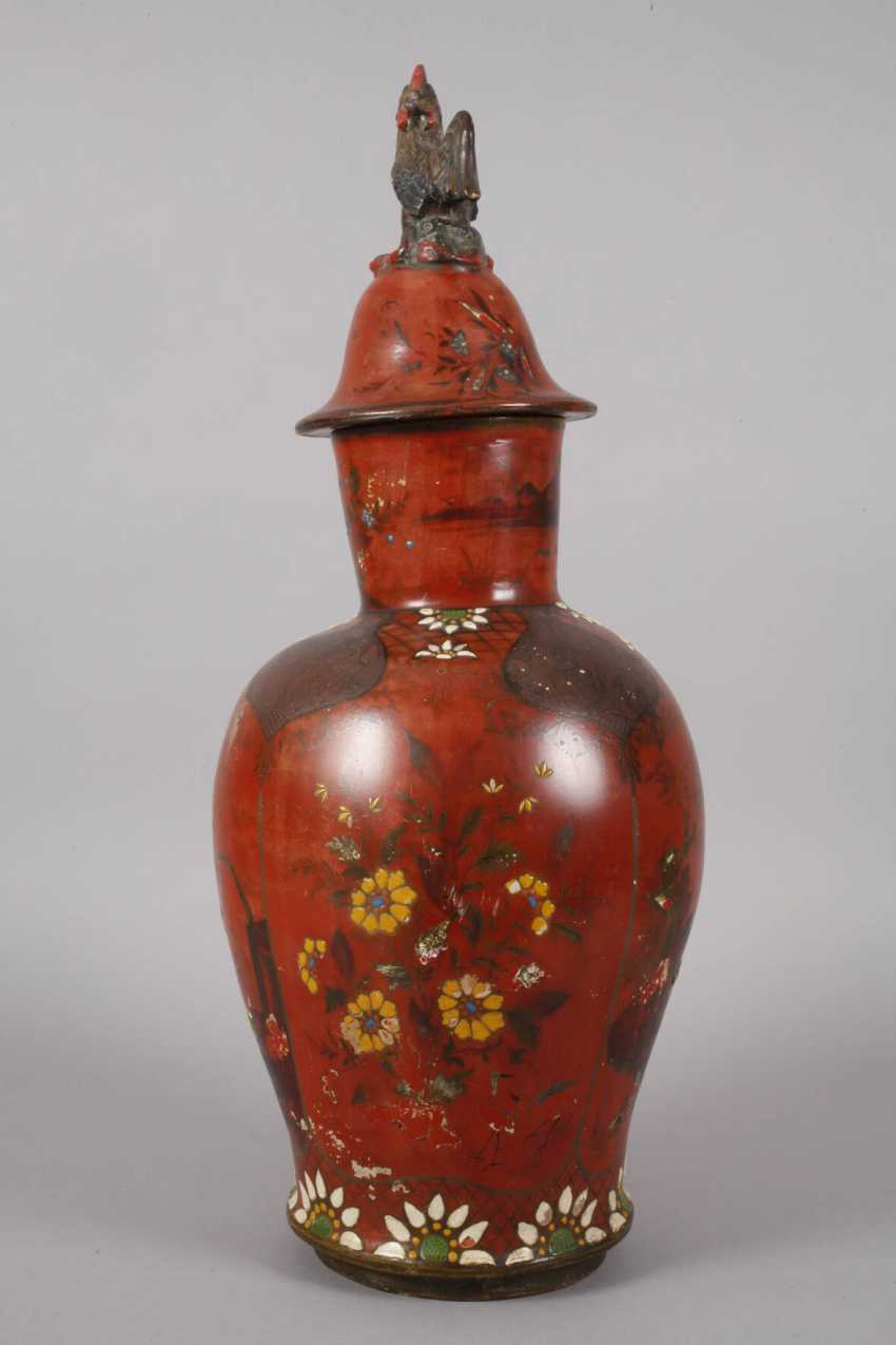 Berlin lacquer vase with Chinoiserien - photo 3