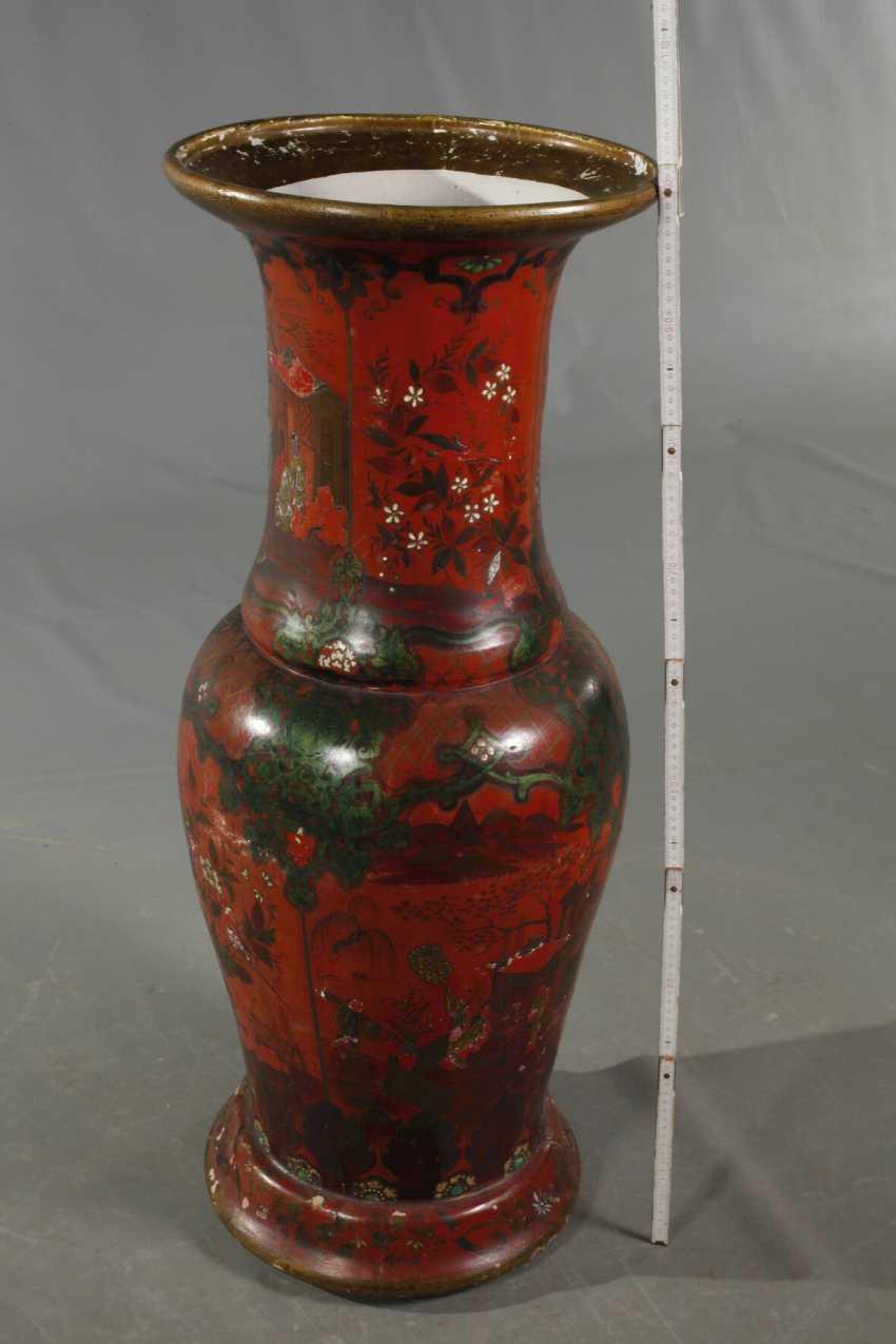 Übegroße Berlin Lacquer Red Vase - photo 2