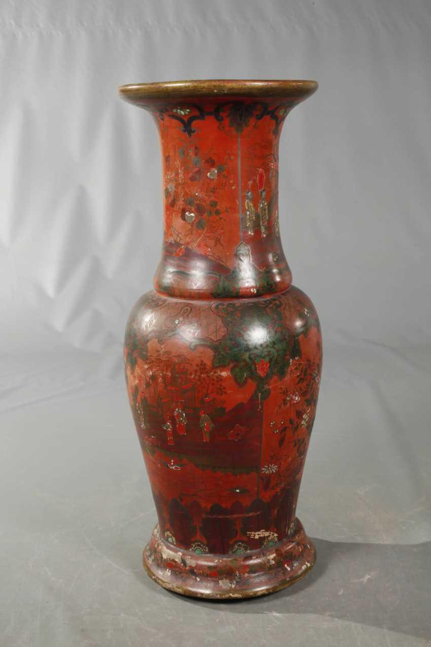 Übegroße Berlin Lacquer Red Vase - photo 4