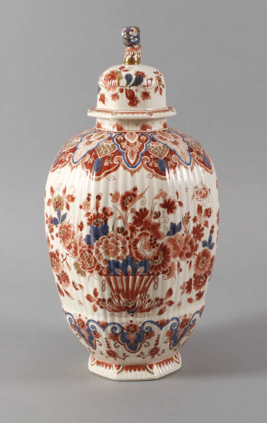 Large Lidded Vase Delft - photo 1