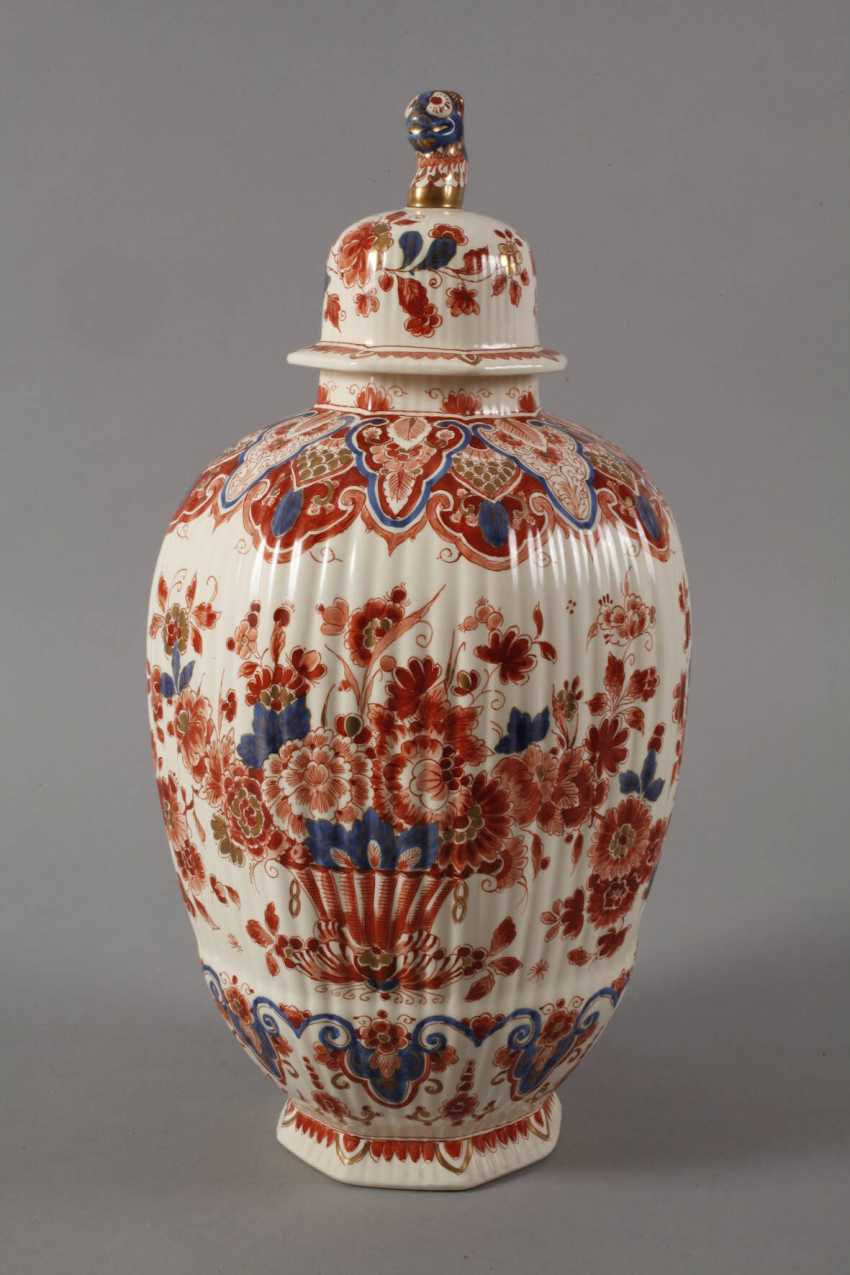 Large Lidded Vase Delft - photo 2