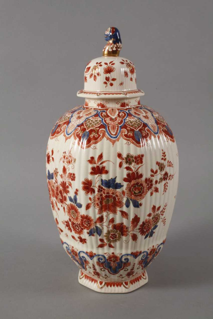 Large Lidded Vase Delft - photo 3