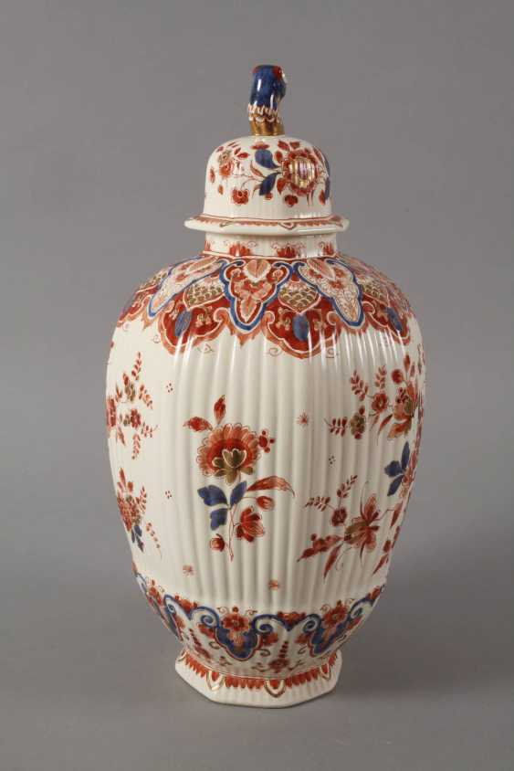Large Lidded Vase Delft - photo 4