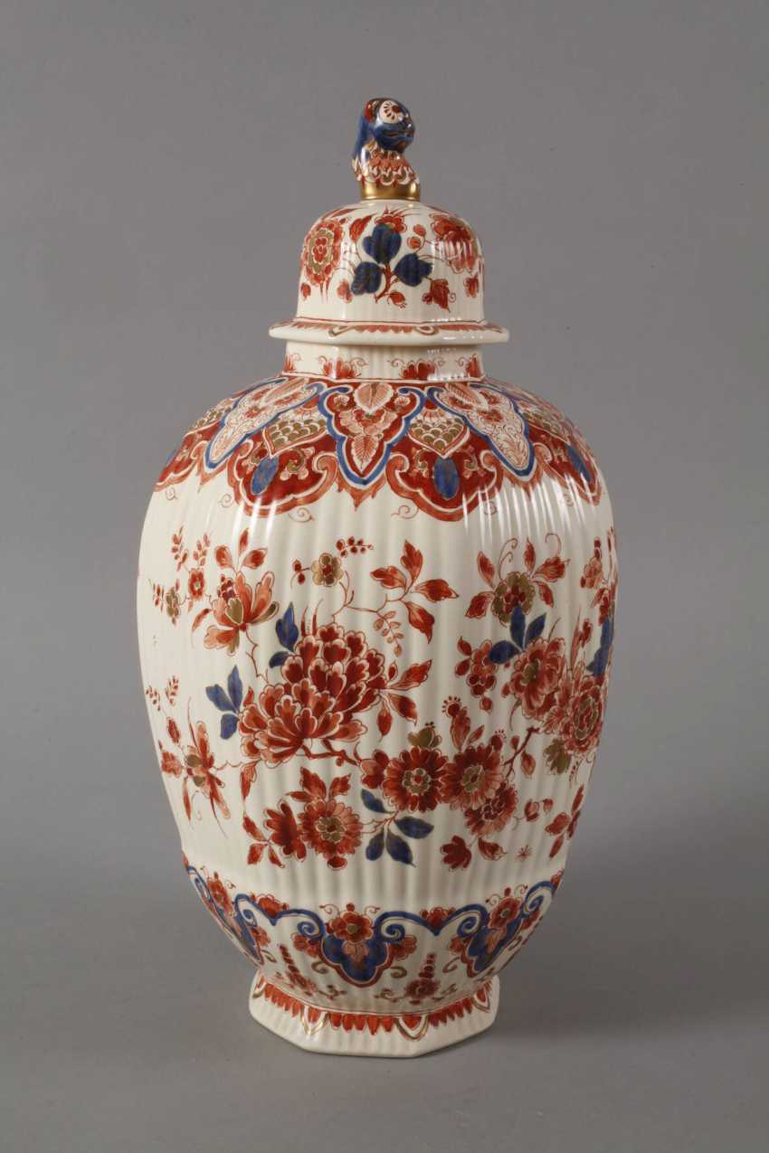 Large Lidded Vase Delft - photo 5
