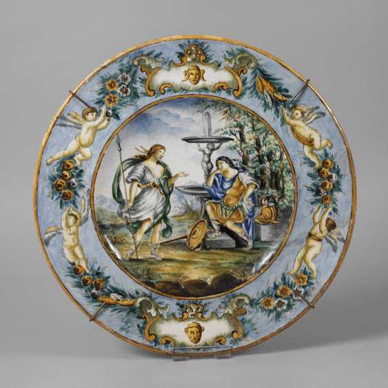 Large Italian faience plate - photo 1