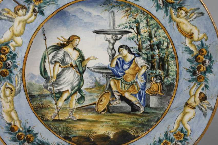 Large Italian faience plate - photo 2