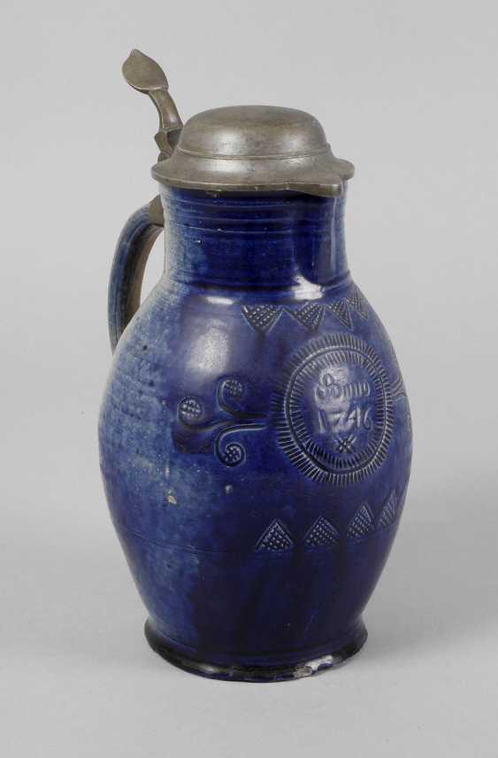 Blue apron jug 1746 - photo 1