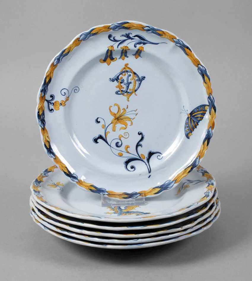Émile Gallé six dinner plates - photo 1